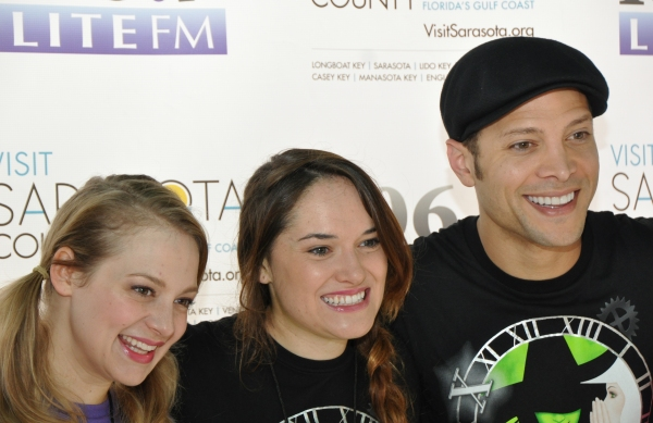 Jenni Barber, Christine Dwyer and Justin Guarini
