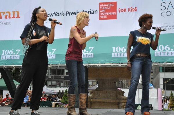 Tamika Lawrence, Jenn Colella and LaChanze