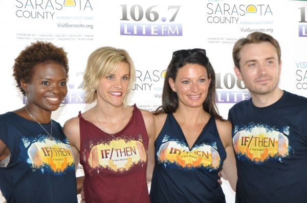 LaChanze, Jenn Colella, Jackie Burns and James Snyder