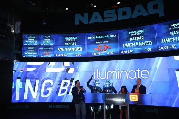 JOSHUA ALDRIDGE, iLUMINATE Robots, MIRAL KOTB, NASDAQ VP DAVID WICKS Photo