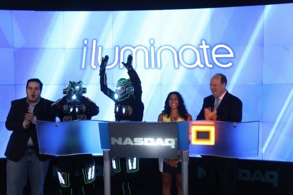 OSHUA ALDRIDGE, iLUMINATE Robots, MIRAL KOTB, NASDAQ VP DAVID WICKS Photo