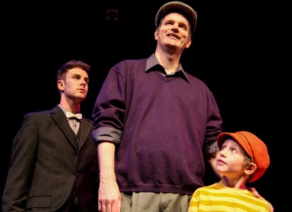 Taylor Okey as Will Bloom, Edward J. MacLennan as Edward Bloom and Landon Barnickel a Photo