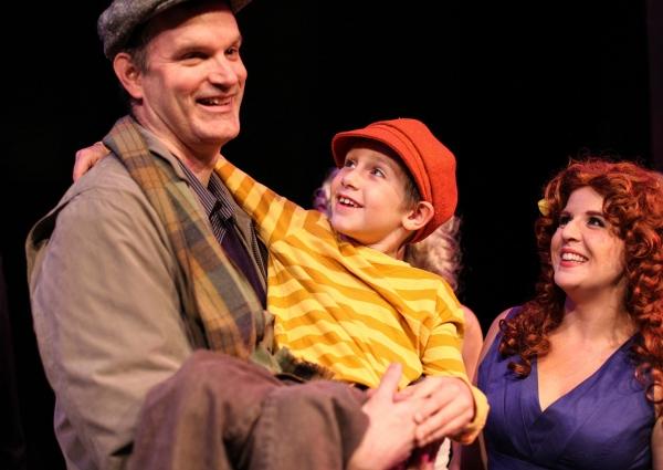 Edward J. MacLennan as Edward Bloom and Landon Barnickel as Young Will and Marisa Boynton as Sandra Bloom