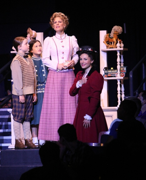 Ben Ainley-Zoll (Michael Banks), Noa Solorio (Jane Banks), Shannon Warne (Winifred Banks) and Kelly McCormick (Mary Poppins)