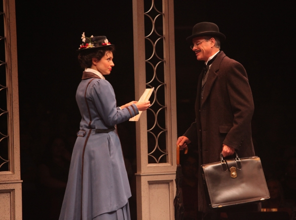 Kelly McCormick (Mary Poppins) and David Engel (George Banks)