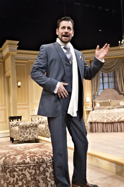 Perry Ojeda portrays the world-famous tenor who has come to the Cleveland Grand Opera Company for a special one-night appearance (and accidental disappearance)