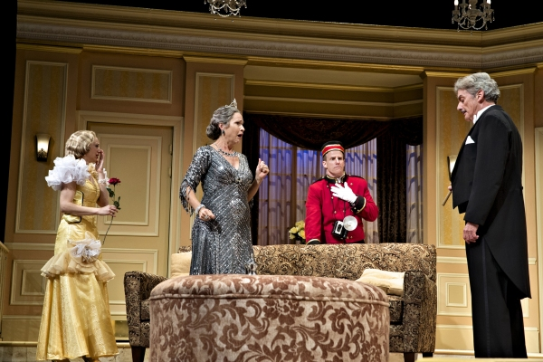 Is there a tenor in the house? Anxious to meet the world- famous singer making a special one-night appearance with the Cleveland Grand Opera Company are: (left to right) Deanna Gibson as Maggie, Susan Riley Stevens as Julia, the Chairman of the Opera Guil