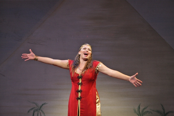 Broadway veteran Darcie Roberts, as the mysterious Narrator, spins the tale of Joseph Photo
