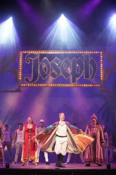 Ian Patrick Gibb takes Joseph's magical coat for one more spin in the grand finale, also featuring Darcie Roberts as the Narrator and Nicholas F. Saverine as Jacob and Potiphar.
