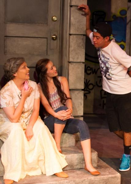 Candida Orosco as Abuela, Julia Cassandra Smith as Nina and Ruben Carbajal as Sonny