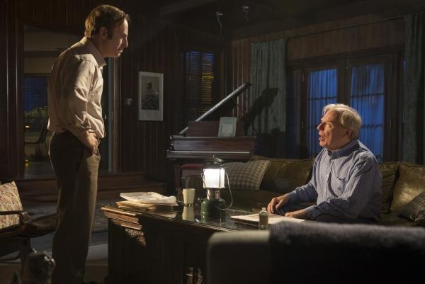 Bob Odenkirk as Saul Goodman, Michael McKean as Chuck