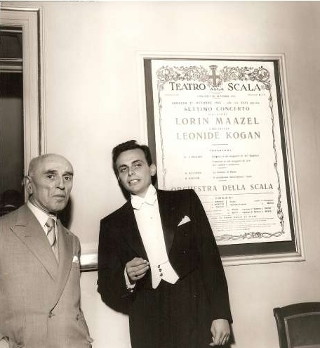 Maazel''s 1955 Symphonic Debut at Teatro della Scala in Milan with Italian composer and teacher Ghendini