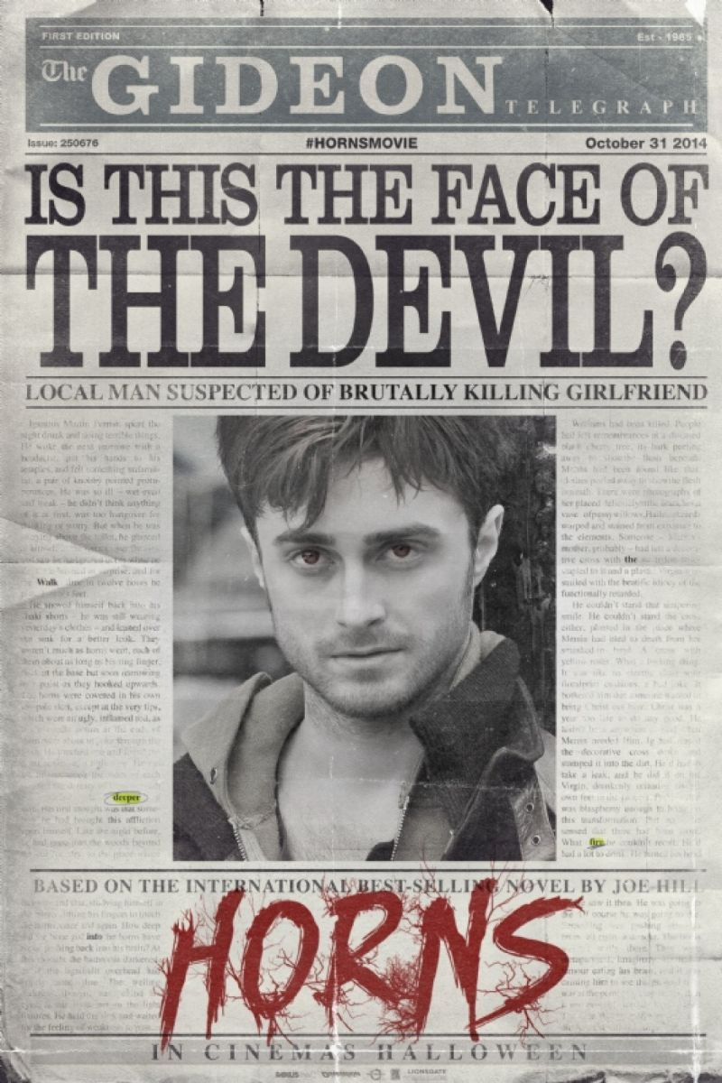 Photo: First Look - Daniel Radcliffe in Teaser Poster for Supernatural Thriller HORNS