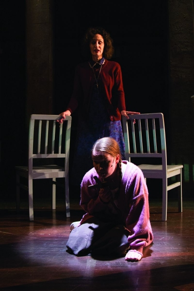 Barbara Walsh as Margaret White and Emily Zickler as Carrie White Photo