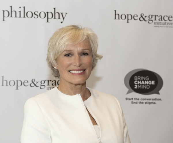 Glenn Close, mental health advocate and co-founder of Bring Change 2 Mind, joins philosophy to help launch its hope & grace initiative