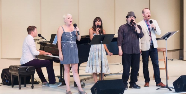 Natalie Joy Johnson, Nikki M. James, Brian Gonzales and Benjamin Howes, accompanied by Nate Buccieri