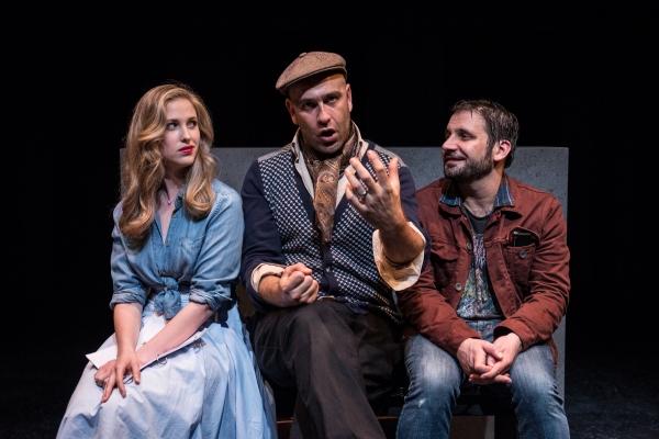 Samantha Strelitz as Cara, Penny Bittone as Director and Derek Ahonen as Douglas
