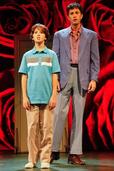 Tyler Altomari (Jason) and Kyle Barisich (Marvin). Photo by Randy O''Rourke. Photo