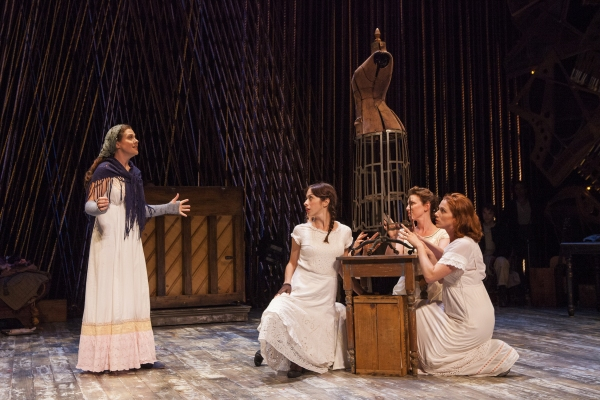 Claire Karpen as Cinderella with Emily Young, Liz Hayes, and Jessie Austrian Photo