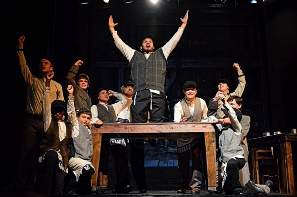 ''To Life'' with Tevye (Jacob Bowman) in center surrounded by cast members