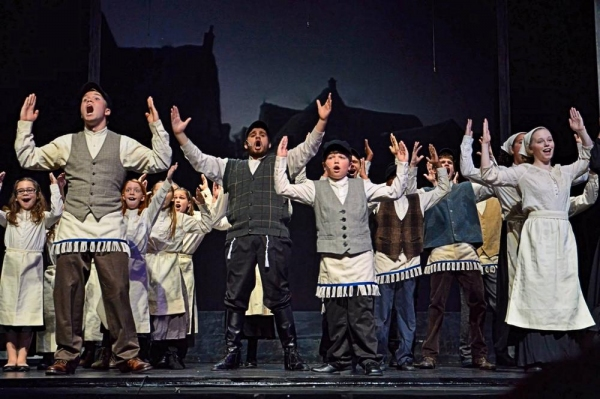 The opening number, ''Tradition'', with Tevye (Jacob Bowman) and cast