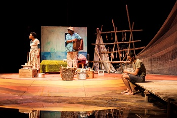 Lesedi Job, Mncedisi Shabangu and Shaun Oelf in FISHERS OF HOPE (TAWARET)
