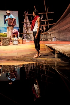 Mncedisi Shabangu and Philip Dikotla in FISHERS OF HOPE (TAWARET)