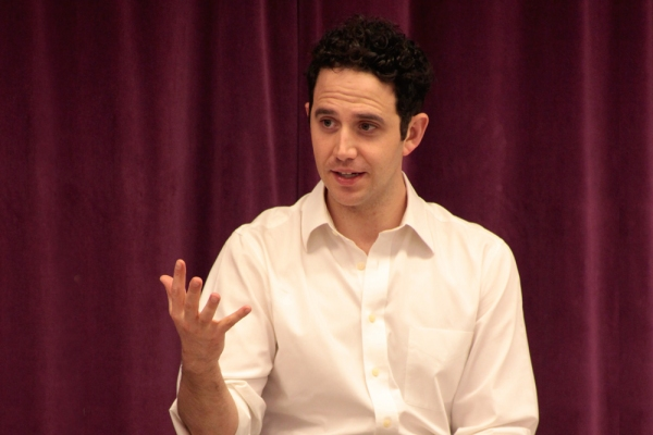 Photo Flash: Tony Nominee Santino Fontana Visits Broadway Artists Alliance