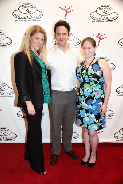 Jennifer Johns (Artistic Director), Santino Fontana, and Michelle R. Lehrman (Admissions Director)