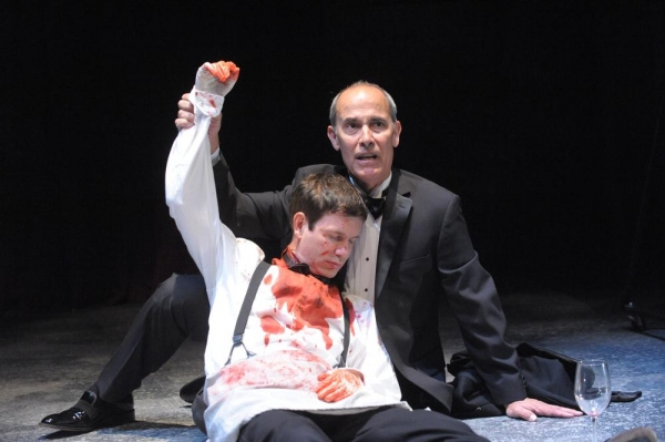 David Barlow as Hamlet and Robert Emmet Lunney as Claudius
