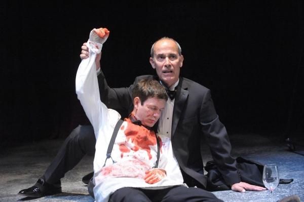 David Barlow as Hamlet and Robert Emmet Lunney as Claudius
