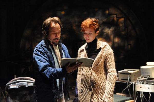 Alex Draper as Leo Katz, Tosca Giustini as Gabriella Pecs Photo