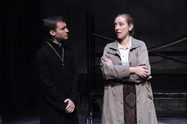 Christo Grabowski as Father Petr Karolyi, Nina Silver as Anna Jedlikova Photo