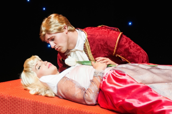Molly McCook as Aurora and Curt Hansen as Prince Philip