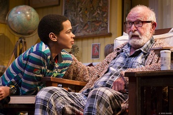 Marviantos Baker and Athol Fugard in SHADOW OF THE HUMMINGBIRD
