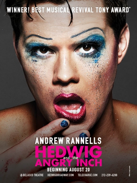 Photo Flash: Andrew Rannells Gets Glittery in New HEDWIG AND THE ANGRY INCH Art!