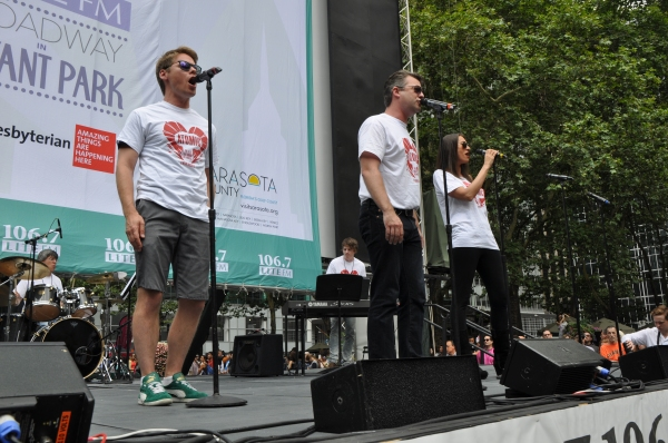 Randy Harrison, Jeremy Kushnier and Sara Gettelfinger