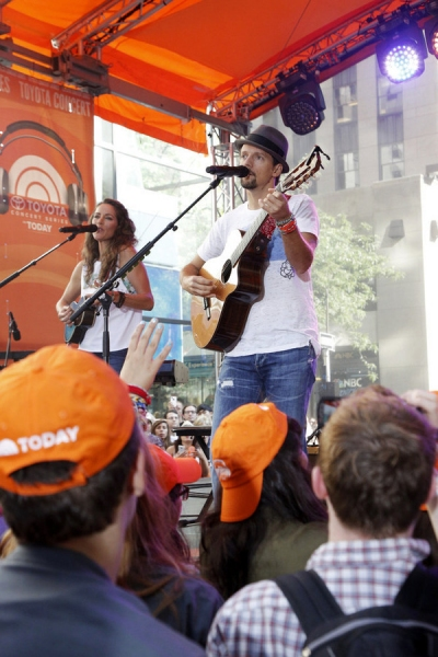 TODAY -- Pictured: Jason Mraz appears on the ''Today'' show -- (Photo by: Heidi Gutman/NBC)