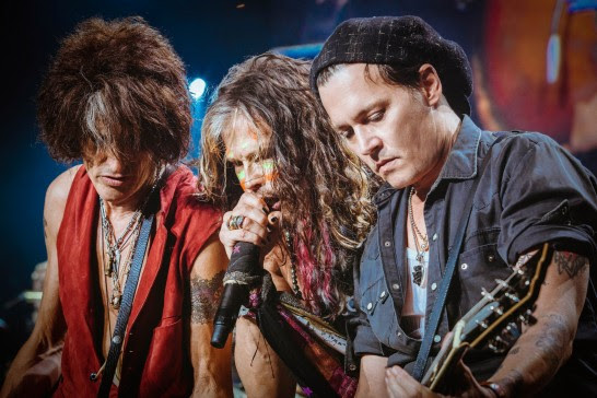 Photo: Johnny Depp Joins AEROSMITH at Band's Boston Hometown Show