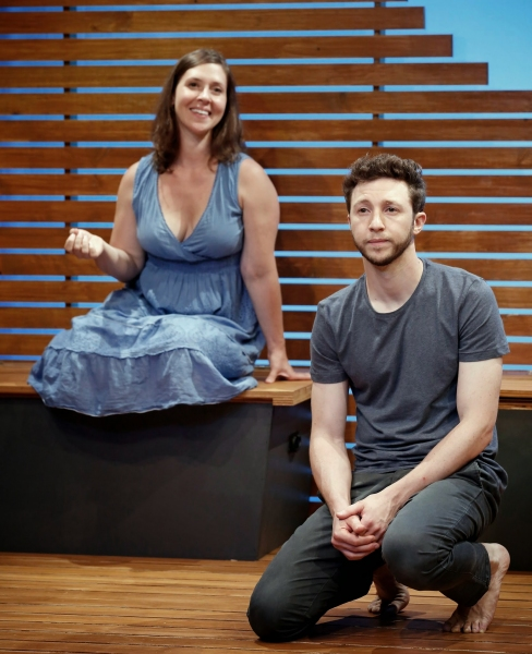 A scene from Riverbed by Eric Lane, directed by Matthew Rauch with Adam Green and Miriam Silverman
