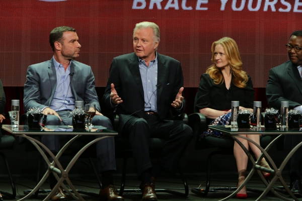 Liev Schreiber, Jon Voight and Paula Malcomson at the Ray Donovan Season 2 panel at the Showtime TCA Summer Press Tour 2014.