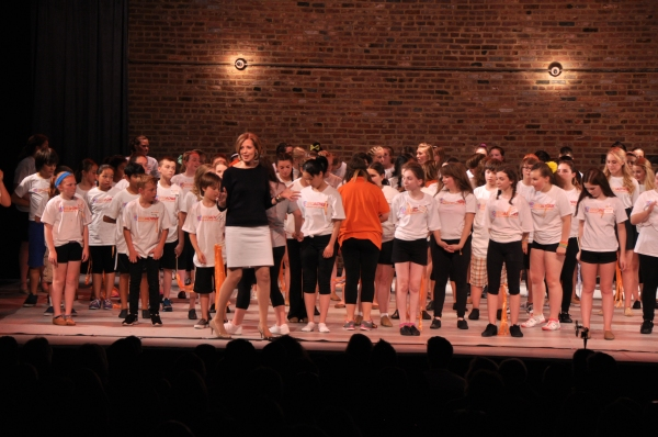Susan Lee (Founder of Camp Broadway) and the students