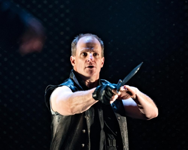 Anthony Lawton portrays Banquo, Macbeth's comrade and rival, in the Pennsylvania Shakespeare Festival production of Macbeth, running on the Main Stage through August 3.