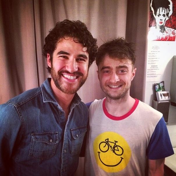 Photo: J. Pierpont Finchs Unite!: Darren Criss Visits 'INISHMAAN' Star Daniel Radcliffe
