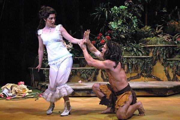 L-R: Jennifer Lorae (Jane), Brian Ogilvie (Tarzan)