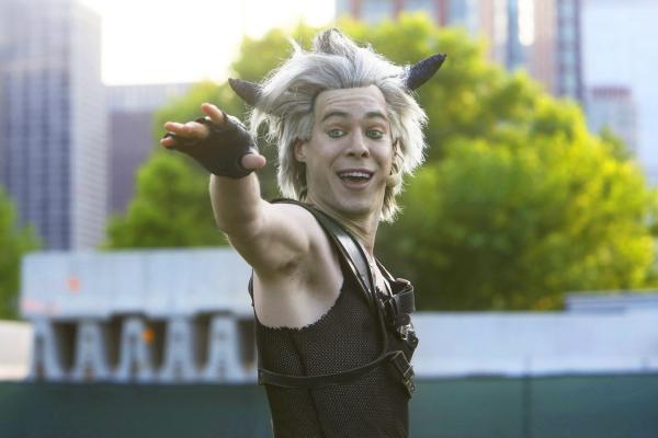 Mischievous Puck (Steven Lee Johnson) casts a spell