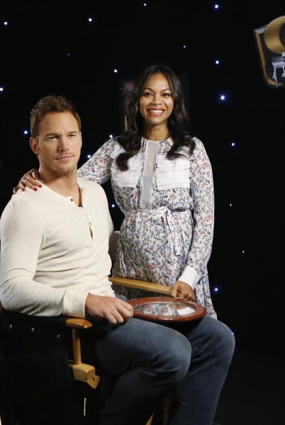 Photo Flash: Chris Pratt, Zoe Saldana & Cast of GUARDIANS OF THE GALAXY Visit Jimmy Kimmel