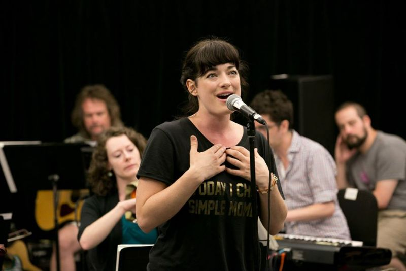 Laura Michelle Kelly & More At FINDING NEVERLAND Sitzprobe