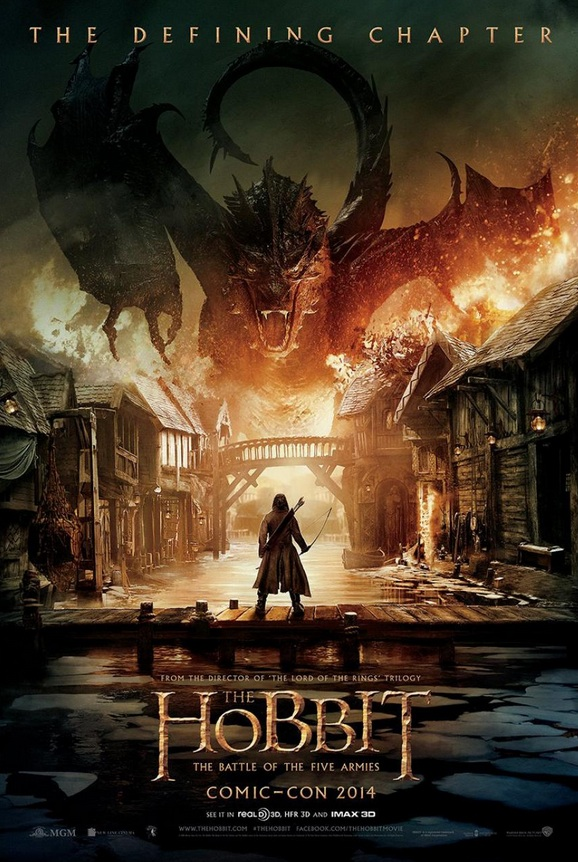 First Look - Poster Art for Peter Jackson's THE HOBBIT: THE BATTLE OF THE FIVE ARMIES