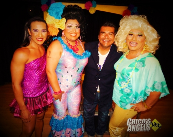 Photo Flash: George Lopez Visits CHICO'S ANGELS
